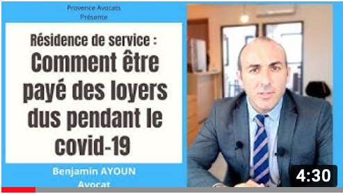 Résidence de services, conseils : Vos loyers impayés pendant le Covid 19